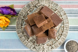 Aztec Chocolate Blocks - Paleo Chocolate Gelatin Squares