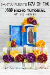 step-by-step Santa Muerte Nicho Tutorial with free printables