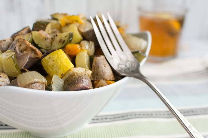 oven roasted fall vegetables
