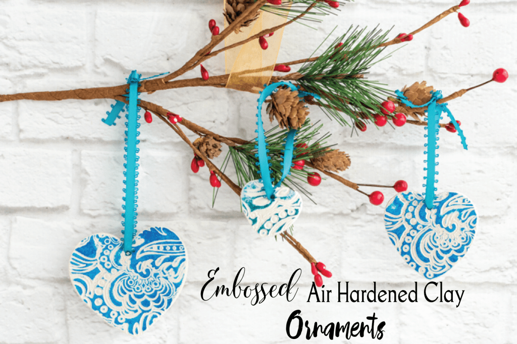 Embossed Air Hardened Clay Ornaments