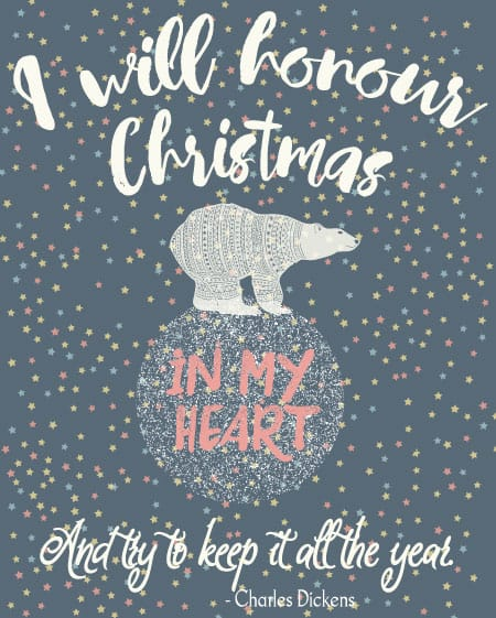 I will Honour Christmas printable