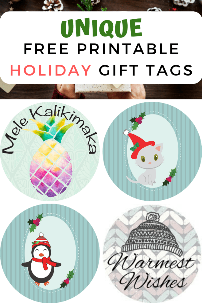 Unique free printable holiday gift tags