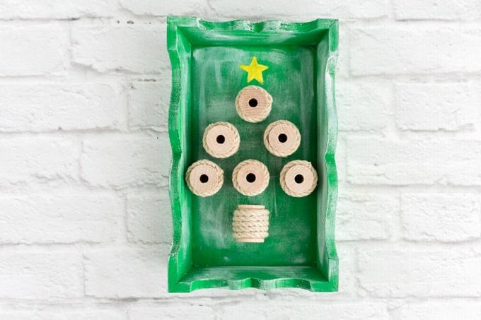 rustic christmas tree shadow box-2