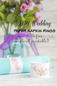DIY Wedding Floral Paper Napkin Rings Tutorial & Printable