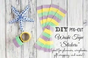 DIY Washi Tape Stickers Tutorial (Great for planners, scrapbooking, and more!)