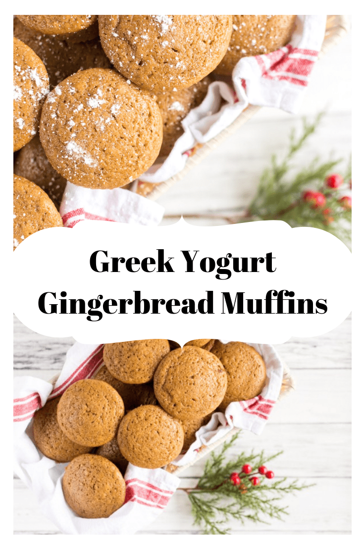 Greek yogurt gingerbread muffins