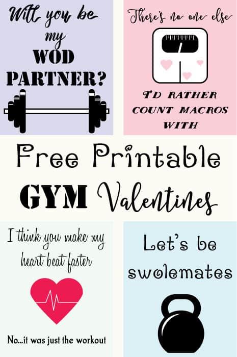 Free Printable Gym Valentines
