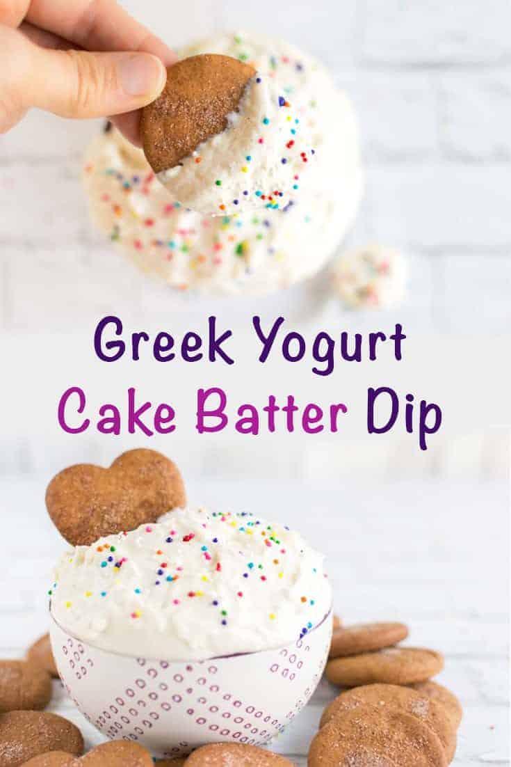 Greek Yogurt Cake Batter Dip - No Cake Mix Cake Batter Dip
