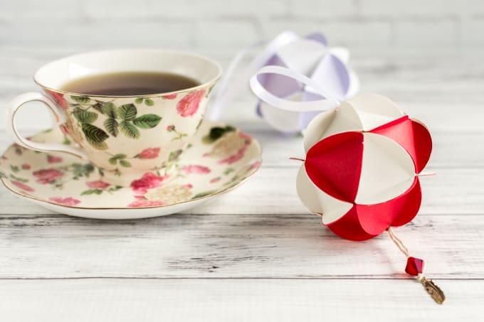 Valentine's Paper Globe Ornament Tutorial