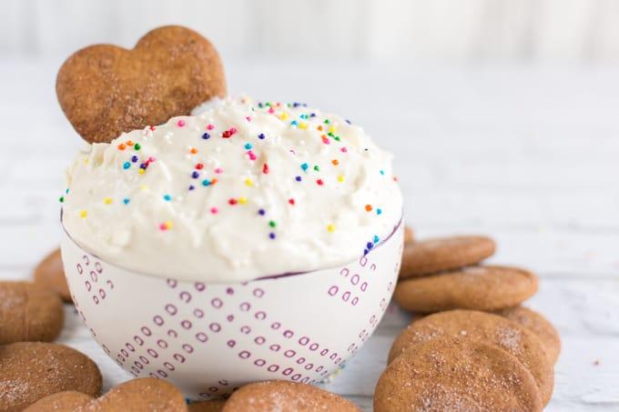 Vanilla cake mix dip