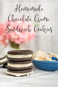 Homemade Chocolate Creme Sandwich Cookies