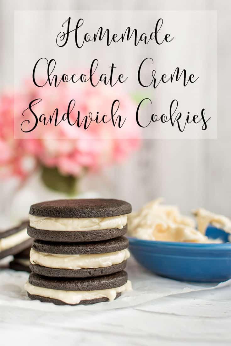 homemade chocolate creme sandwich cookies recipe