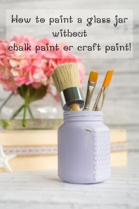 Upcycled Honey Jar Organizer - Cottage Chic Painted Glass Jar Tutorial