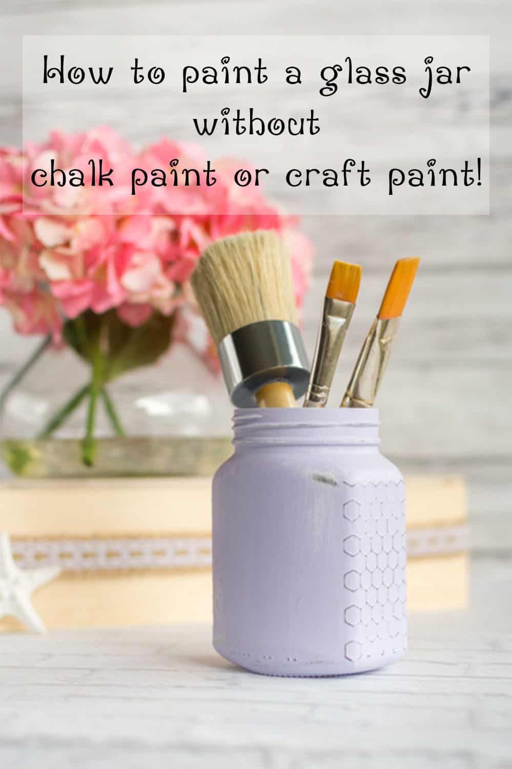 how to paint a glass jar without craft paint or chalk paint