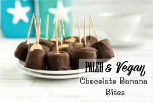 Paleo & Vegan Chocolate Banana Bites