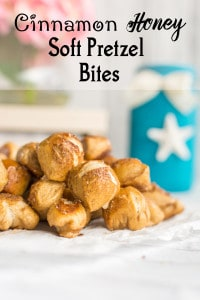 Honey Cinnamon Soft Pretzel Bites Recipe