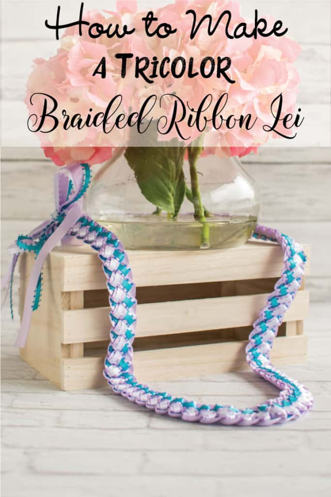 How to Make a Tricolor Braided Ribbon Lei