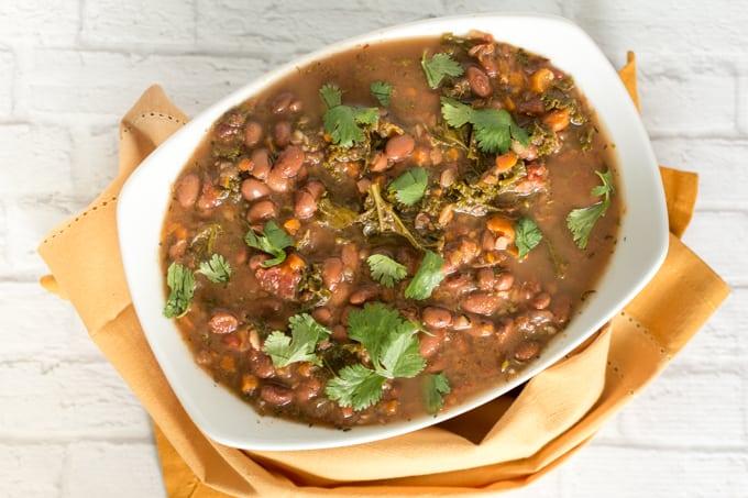 meal prep pinto bean vegetable soup