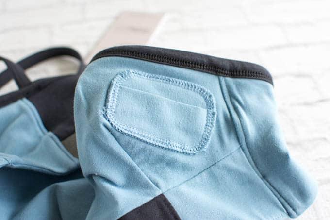 Alternative Apparel sports bra with key pocket
