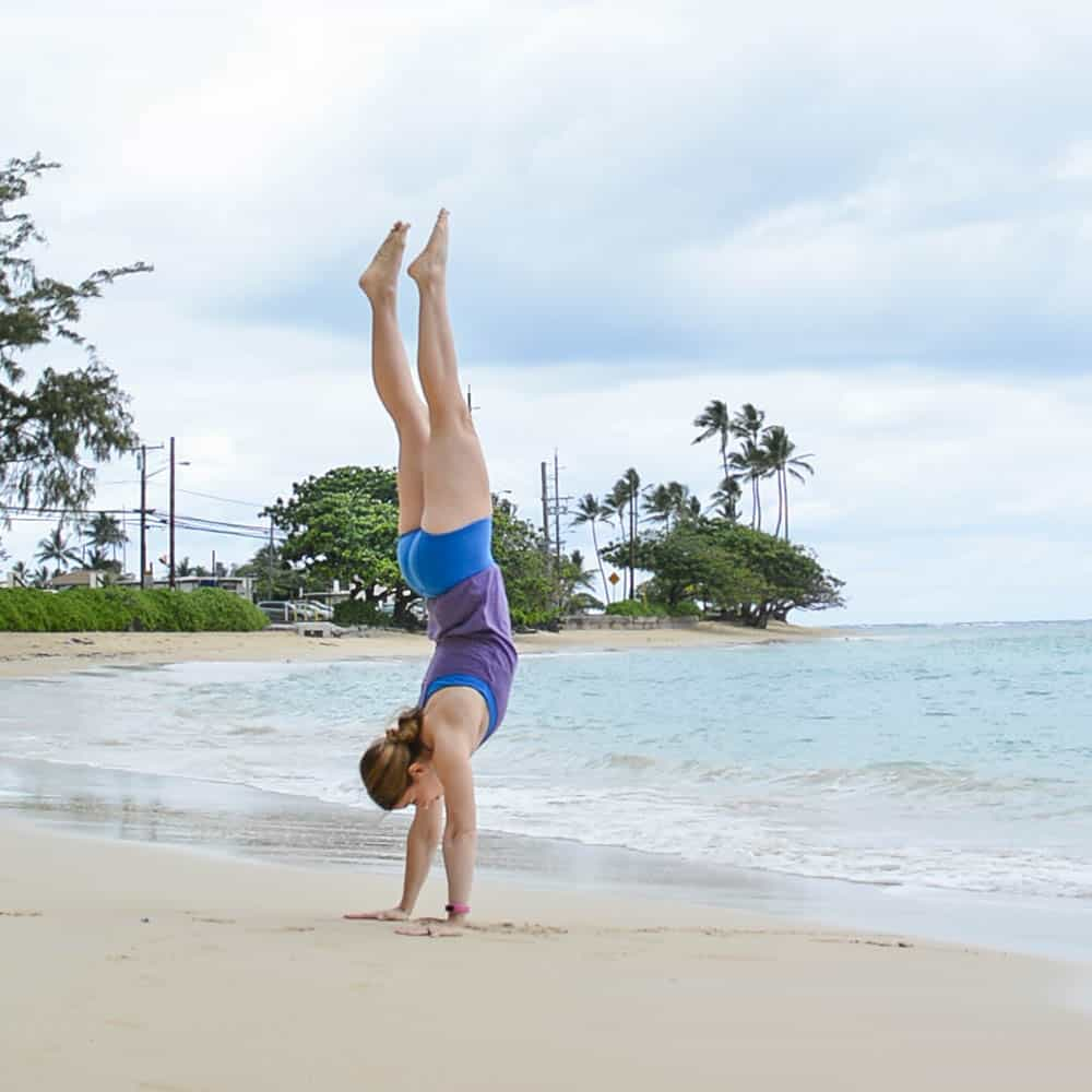 handstand in Alternative Apparel