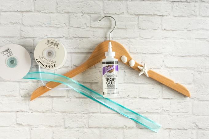 materials for DIY beach wedding hanger