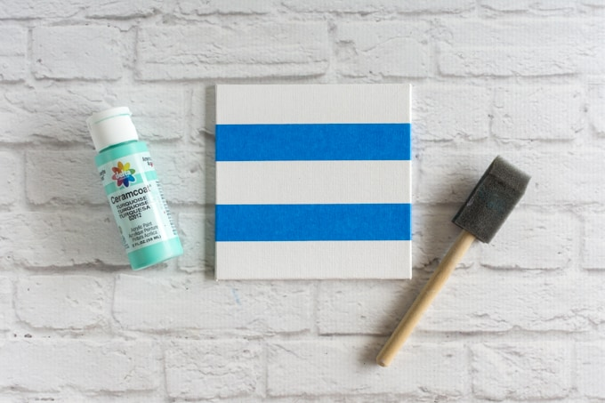 tape the canvas panel