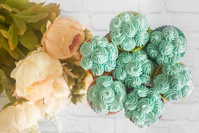 Small Batch Wedding Anniversary Cupcakes