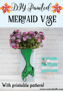 DIY Painted Mermaid Vase (with Pattern!)