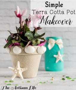 Easy Terra Cotta Pot Makeover