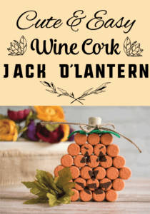 How to Make a Wine Cork Jack O'Lantern