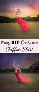 Easy DIY Costume Chiffon Skirt/Cape