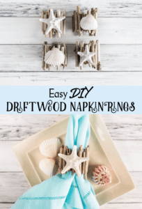 Easy DIY Driftwood Napkin Rings