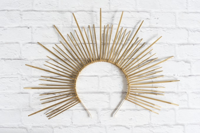 diy sunburst headdress