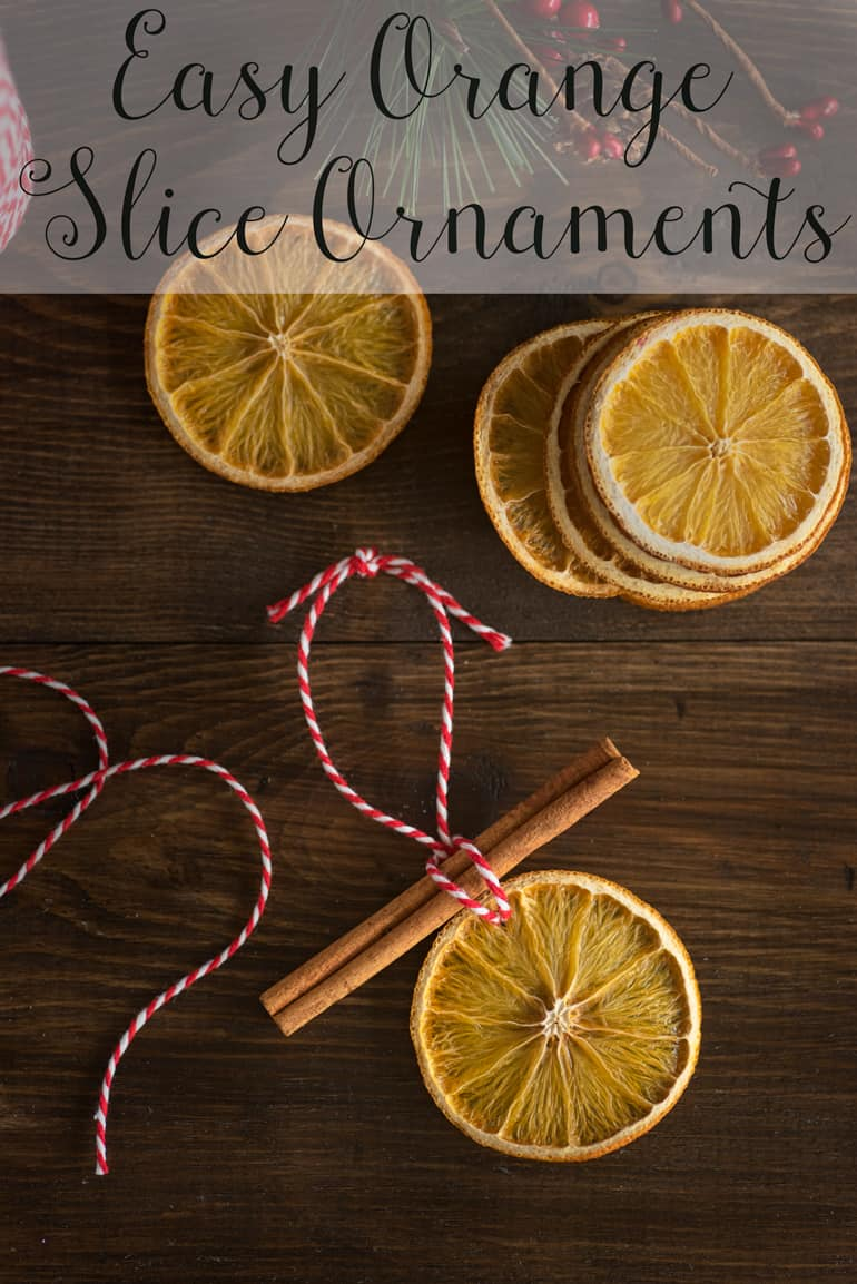 Orange slice ornaments tutorial