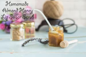 Homemade Honey Almond Lip Sugar Scrub