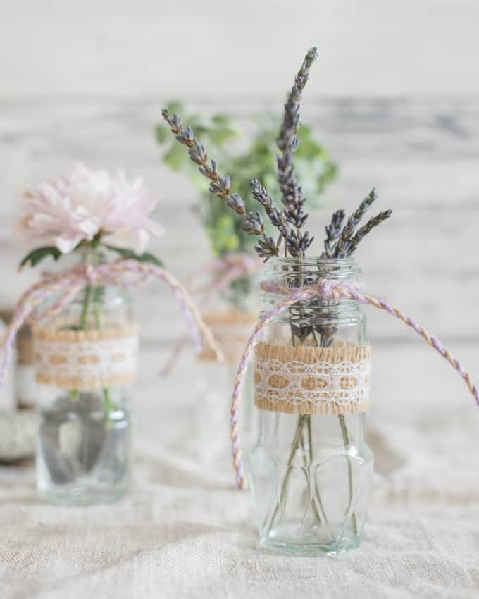 spice jar bud vases