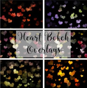 Free heart bokeh overlays