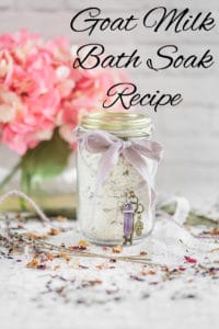 Goat Milk Bath Soak Recipe