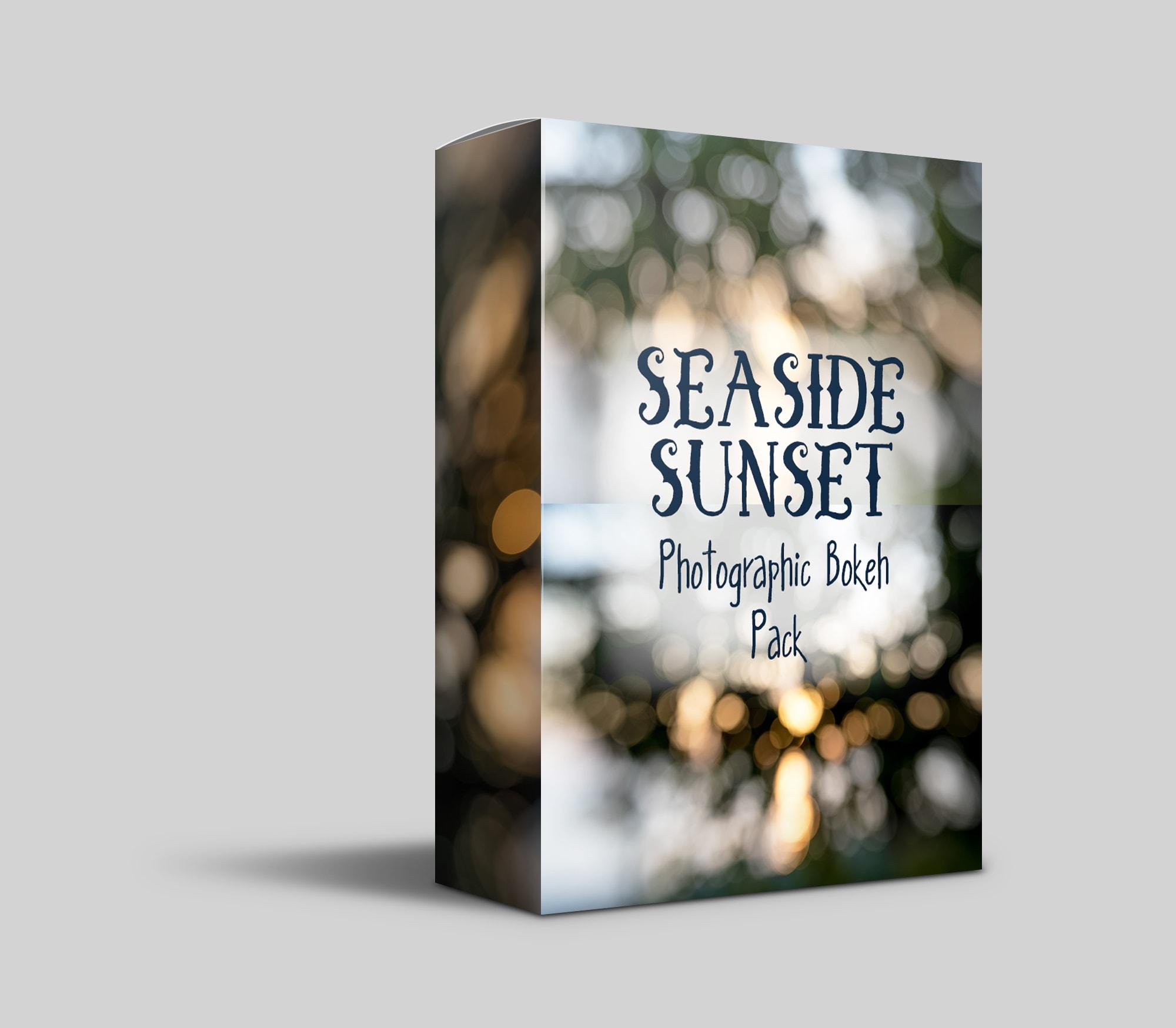 Free seaside sunset bokeh pack