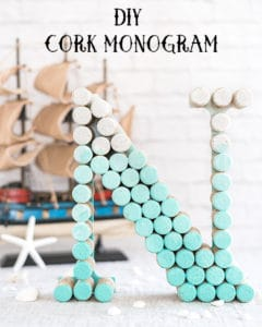 DIY Ombre Cork Monogram Letter Tutorial