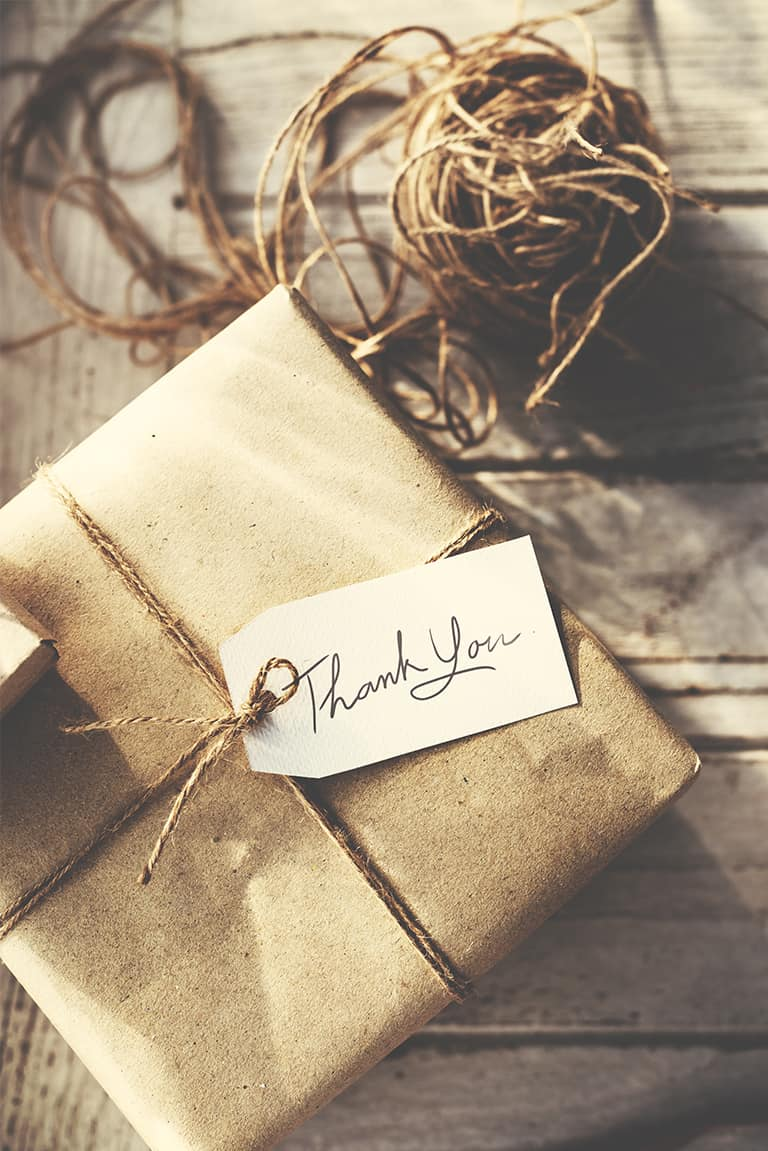 preparing your Etsy shop for vacation - write a new thank you note