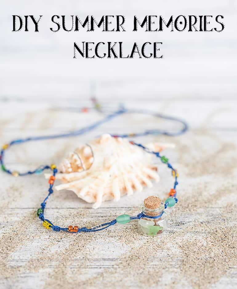DIY summer memories necklace - easy macrame necklace