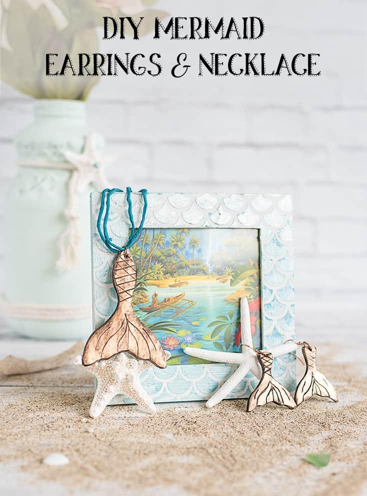 Mermaid Earrings and Necklace Tutorial