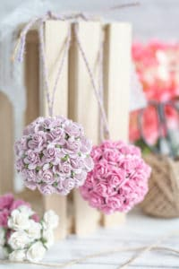 paper flower pomander tutorial