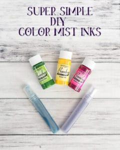 Super Simple DIY Color Mist Inks