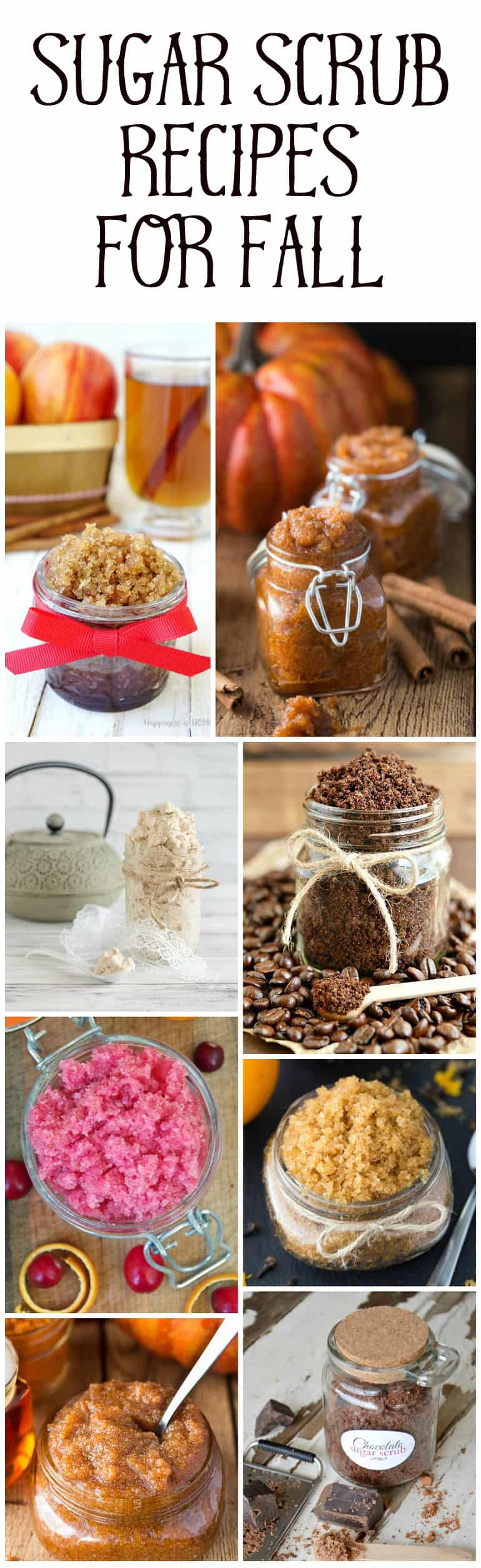 sugar scrub recipes for fall roundup