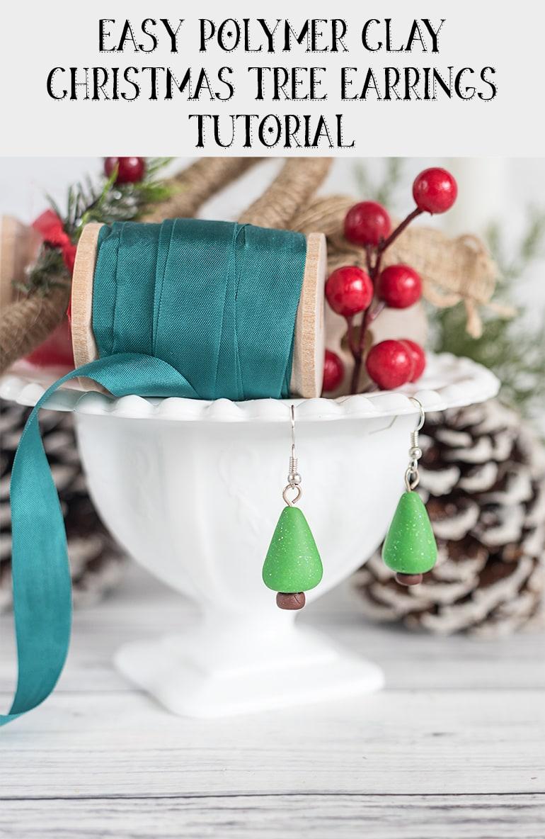 Easy Polymer Clay Christmas Earrings Tutorial