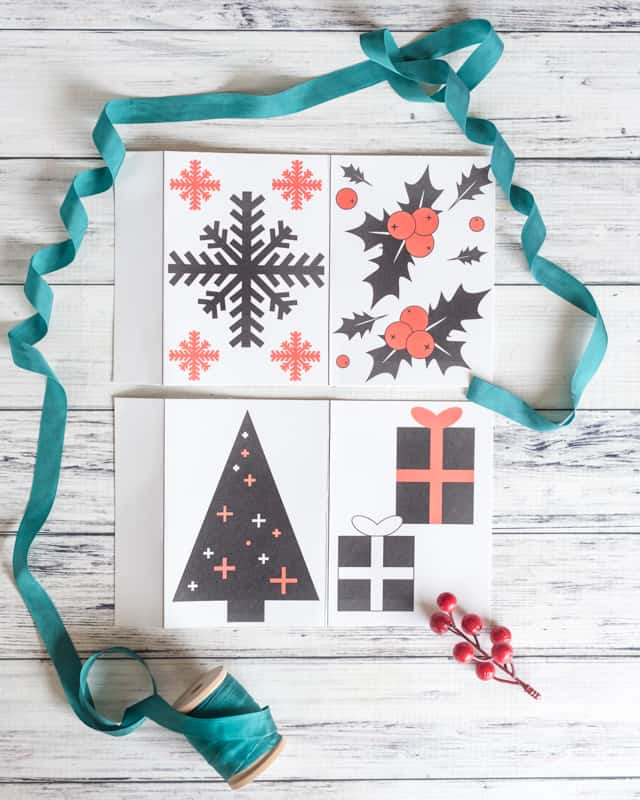 free Christmas printable high contrast cards for Babies