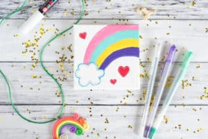 self-acceptance rainbow painting mini art tutorial