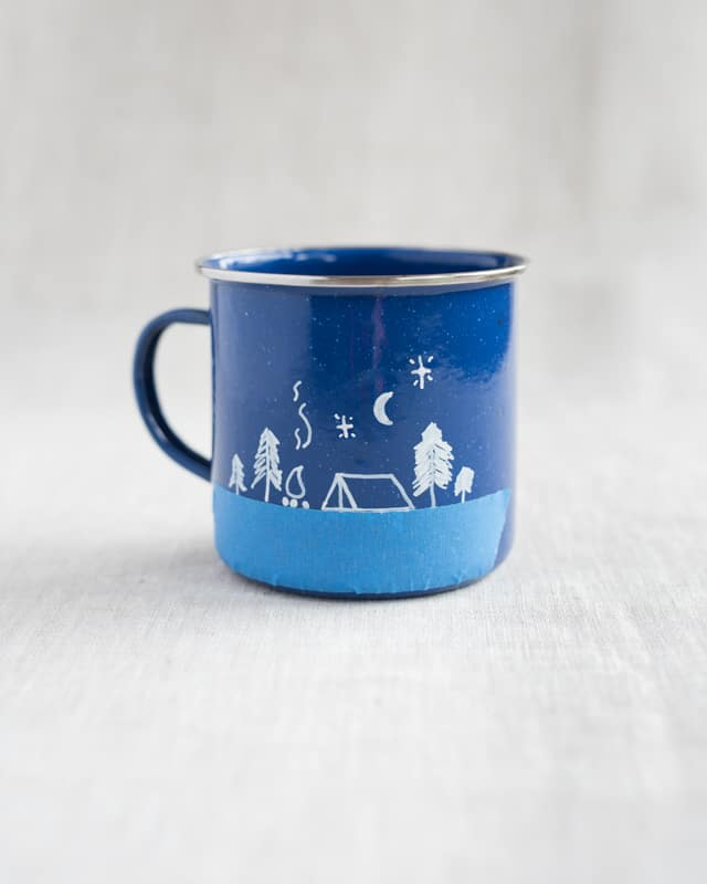 Diy Enamel Camp Mugs Make Your Own Adventure Camp Mug The